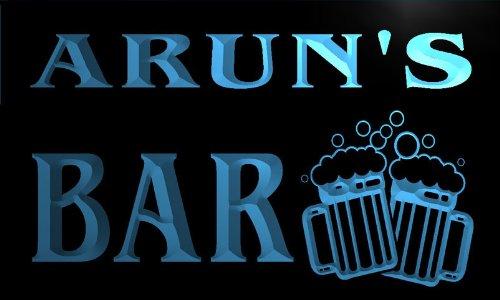 w131398-b-arun-name-home-bar-pub-beer-mugs-cheers-neon-light-sign