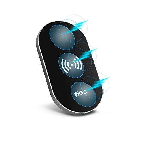 Qi ワイヤレス充電器 EC Technology ワイヤレスチャージャー Qi充電パッド 無線充電器 無接点充電 置くだけ充電 コンパクト軽量 Qi対応全機種対応 3つのコイル