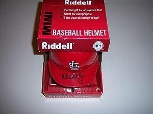 Mark Mcgwire St.louis Cardinals W coa Signed Mini Helmet - Autographed MLB Mini... by Sports+Memorabilia
