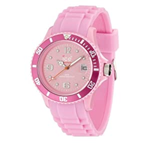 ICE-Watch - Montre Mixte - Quartz Analogique - Ice-Forever - Pink - Small - Cadran Rose - Bracelet Silicone Rose - SI.PK.S.S.09