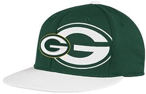 NFL Green Bay Packers End Zone 2 In 1 Flat Visor Flex Hat - Tw80Z by Reebok