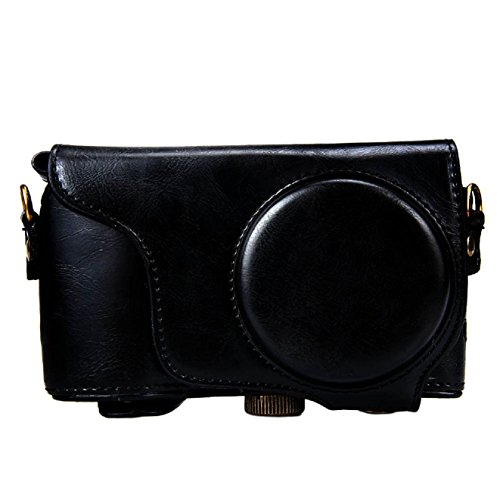 ABC® 2015 New PU Leather Camera Case Bag for Samsung GC200 /GC110/GC100 (Black)