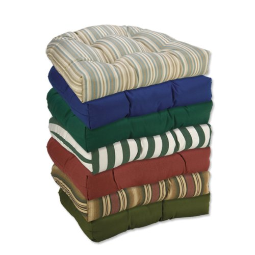 chair cushions with ties: Low Price Sunbrella Round Chair Pads