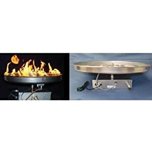Hpc 37 Inch Natural Gas Fire Pit Kit With 30 Inch Burner - Push Button Ignition