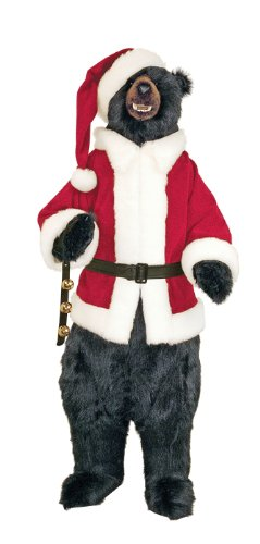 Life-Size Santa Claus Black Bear
