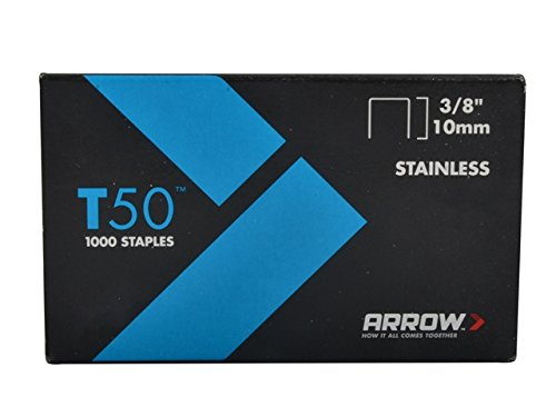 Arrow 506Ss1 Genuine T50 Stainless Steel 3/8-Inch Staples, 1,000-Pack
