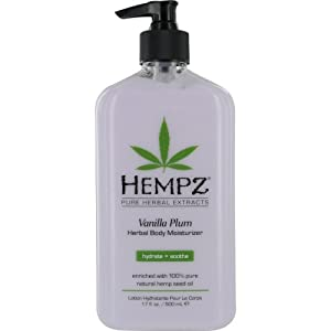 Hempz Herbal Body Moisturizer, Light Purple, Vanilla Plum