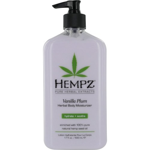 Hempz Vanilla Plum Herbal Body Moisturizer, 17 Ounce