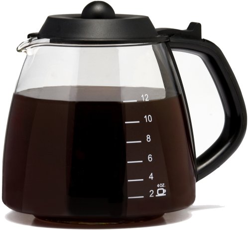 Medelco 12 Cup Millennium Style Carafe, Black GL312 (Universal Replacement Carafe compare prices)