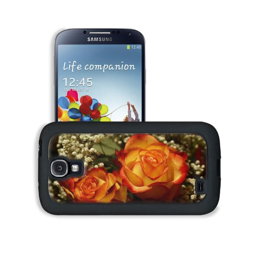 Perfectly Roses Wedding Bouquet Samsung Galaxy S4 Snap Cover Leather Design Back Plate Case Customized Made To Order Support Ready 5 3/16 Inch (132Mm) X 2 13/16 Inch (71Mm) X 4/8 Inch (12Mm) Liil Galaxy_S4 Professional Leather Plastic Cases Touch Accessor front-916483