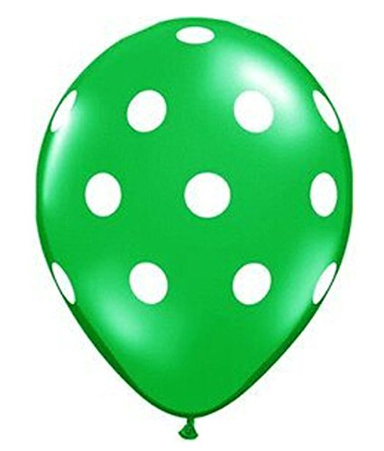 12pcs Dark Green Big Polka Dot Latex Balloons 11 - 1