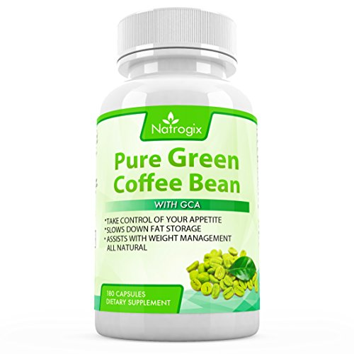 Natrogix 800mg Green Coffee Bean Extract with GCA Natural Weight Loss Supplement, 180 Capsules (Green Coffee Bean Extract 400 compare prices)