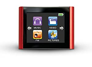 Eclipse Mach Speed 4 GB MP3/Video Player with 1.8-Inch Touchscreen, Voice Recorder and FM Radio - (Red) (Eclipse-T180 RD)