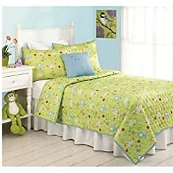 Living Quarters Kids Sweet Pea 2-piece Twin Quilt and Sham Set