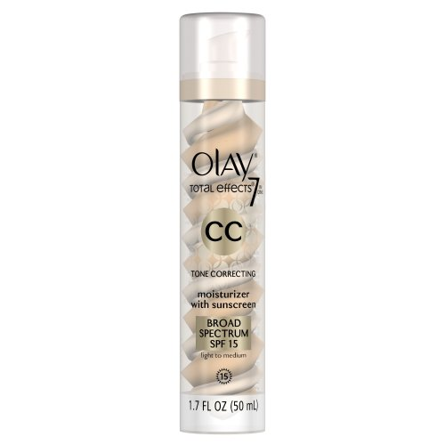 Olay CC Cream - Total Effects Tone Correcting Moisturizer with Sunscreen Broad Spectrum SPF 15 Light to Medium 1.7 Fl Oz