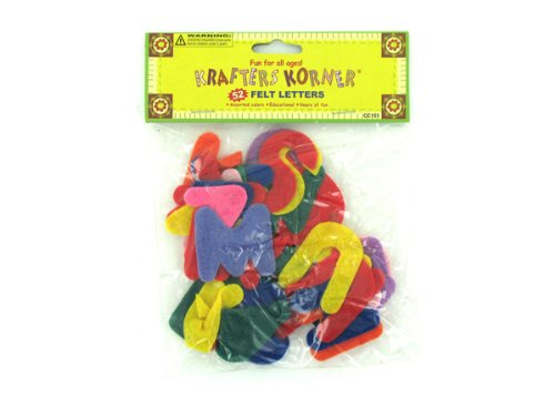 Crafting felt letters - Pack of 48