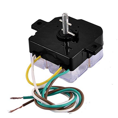 [해외]Uxcell DXT15 AC250V 3A 3 와이어 제어 시간 세탁기 세탁기 타이머, 블랙/Uxcell DXT15 AC250V 3A 3 Wire Control Time Washing Machine Washer Time