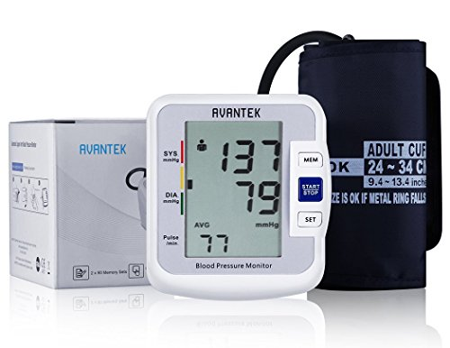 Avantek Portable Digital Automatic Upper Arm Blood Pressure Monitor - Gift For Families