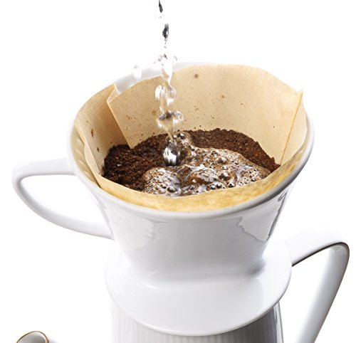 Harold Import Company HIC Pour-Over Disposable Coffee Filters Brews 2 to 6-Cups, Brown Home ...