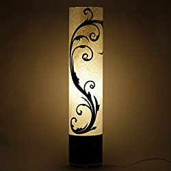 Craftter LIBERTY Style White and Black (35 inch) Long Cylindrical FLOOR LAMP