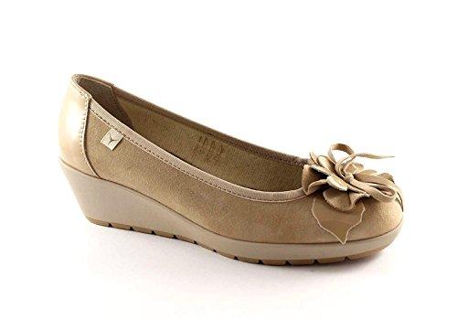 CINZIA SOFT 8131 sabbia scarpe donna ballerine decolletè zeppetta 39