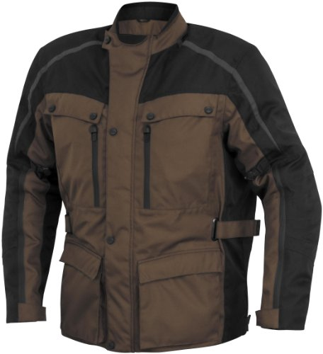 River Road Taos Womens Jacket , Gender: Womens, Primary Color: Brown, Size: 2XL, Apparel Material: Textile, Distinct Name: Brown/Black XF-1-09-5162