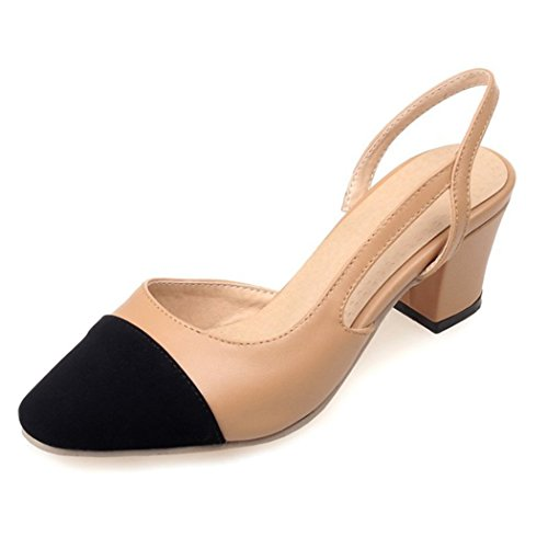 Autumn Melody Summer Fashion Elegant Close-toe Mixed Colors Charm Women Thick High Heels Size 9.5 US (Contact Centers For Dummies compare prices)