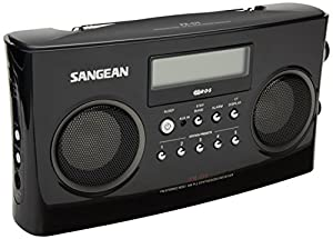 Sangean PR-D5BK AM/FM Portable Radio with Digital Tuning and RDS