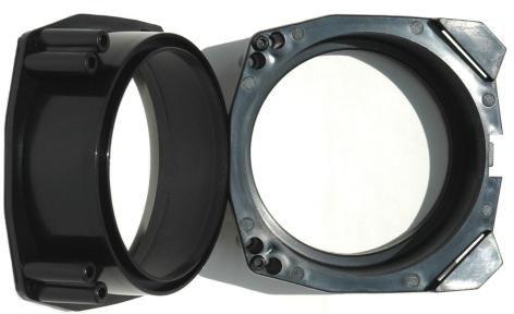 6113-Lautsprecher-Adapter-Ringe-fr-FORD-Fiesta-GFJMK3-JBSJASMK4-JBSJASMK5-MAZDA-121-JASMJBSM-130mm-ermglichen-den-nachtrglichen-Einbau-von-handelsblichen-Lautsprechern