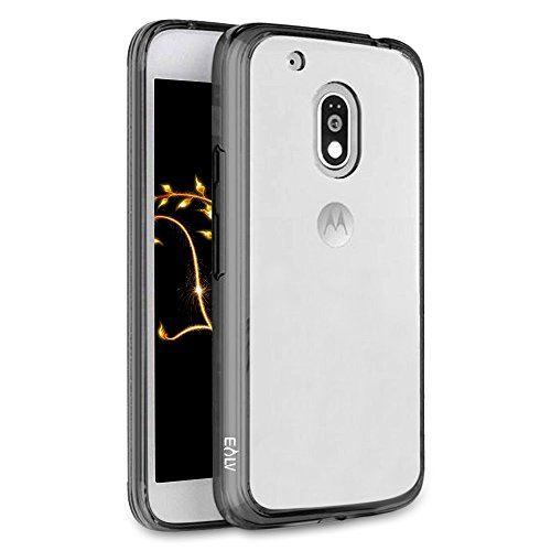 best service abc9f 47e6f Moto G4 Play Case, E LV Moto G4 Play cover- Hybrid Protective [Clear Case]  [Drop Protection] [Anti Scratch]-Perfect Non Slip Grip and Corner ...