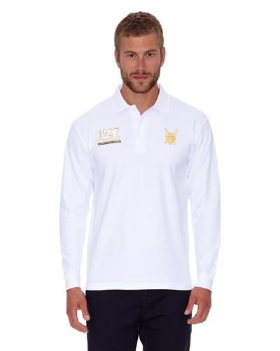 Polo Club Polo Regular Fit Escudo & Número Blanco
