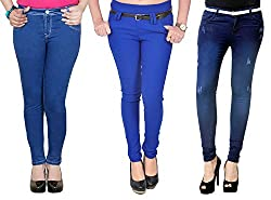 Zrestha Blue Jeans With Blue Jegging Combo For Women's