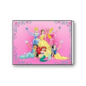 Disney Princess Ariel Cinderella Aurora Jasmine Belle Canvas Wall Art