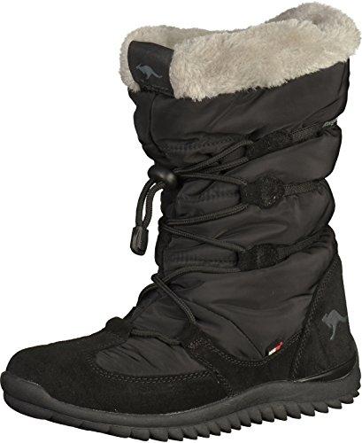 KangaROOSPuffy III - Stivali da neve, alla caviglia Unisex - Bambini , Nero (Noir (Black 500)), 42