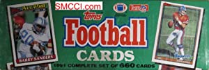 1991 Topps NFL Football Cards Unopened Factory Set (660 different cards) - Includes... by Factory Set