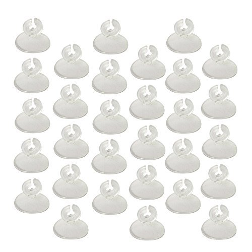 Bluecell Pack of 30pcs Clear Soft Suction Cup Airline Tube Holders/Clips/Clamps for Aquarium