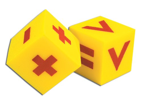 "School Specialty Foam Operations 3"" Over-sized Dice (Set of 2)"