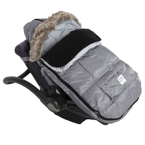 "7AM Enfant ""Le Sac Igloo"" Footmuff, Converts into a Single Panel Stroller and Car Seat Cover, Gray, Large"