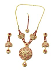 Montana Pink Coloured Stone Set With Flower Pendant, Necklace For Women