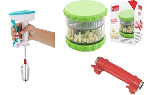 NESTWELL Power Free Blander WITH Garlic & Multi Crusher (ABS) WITH Sweet Corn Cutter (2 In 1)