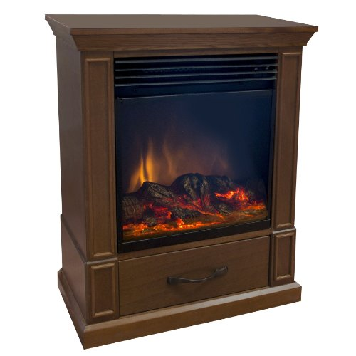 Comfort Earth Elkin 20'' Mobile Electric Fireplace - Walnut