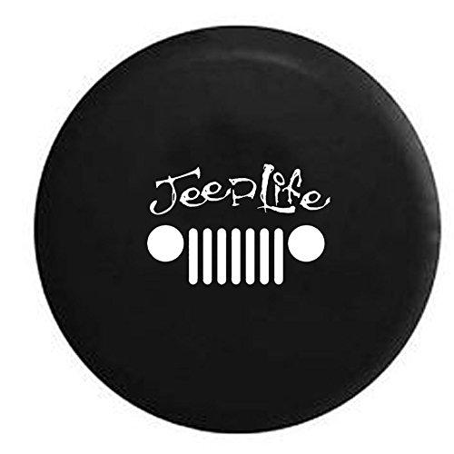jeep life grill wrangler jk tj cj spare tire cover oem vinyl black 32 33 in vehicles parts. Black Bedroom Furniture Sets. Home Design Ideas