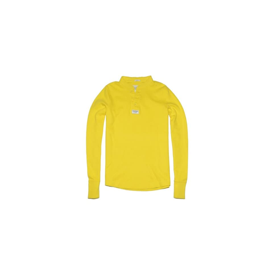 Abercrombie & Fitch Men Muscle Fit Long Sleeve Henley T shirt (XXL, Bright yellow) at  Men's Clothing store Abercrombie And Fitch