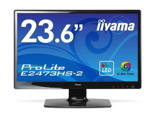 iiyama 4系統入力対応  ホワイトLEDバックライト搭載 23.6型ワイド液晶ディスプレイ ProLite E2473HS-GB2
