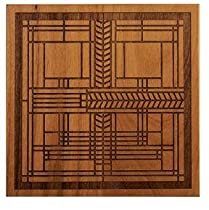 Frank Lloyd Wright Gift Shop FRANK LLOYD WRIGHT Architecture Gift WILLITS ALDER WOOD TRIVET New from astore.amazon.com