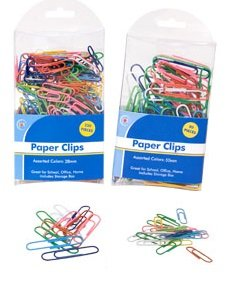 Colorful Coated Paper Clips, 80 Jumbo, 250 small