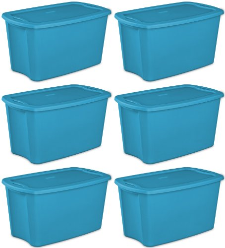 STERILITE 18351006 Storage Tote, 30 Gallon, Set of 6 (Storage Totes 30 Gallon compare prices)