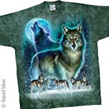 AMERICAN WILDLIFE T-Shirt - Wolf Moon (Tie-Dye), Lby American Wildlife