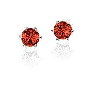 Rafaela Donata - 60836030 - Glossy Collection - Boucles d'Oreilles Femme - Laiton - Cristal Swarovski - Rouge