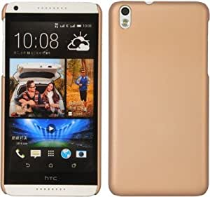 PES Rubberised Matte Hard Case Back Cover For HTC Desire 728 dual sim - Gold